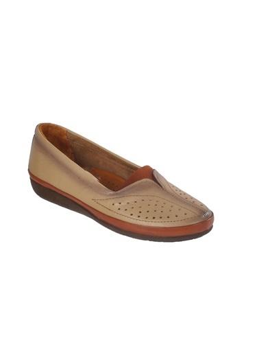 Ayakmod 103 Hakiki Deri Krem Kadın Günlük Ayakkabı Krem